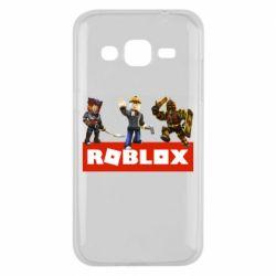 Чехол для Samsung J2 2015 Roblox Heroes