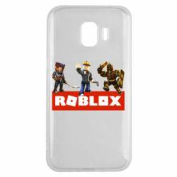Чехол для Samsung J2 2018 Roblox Heroes