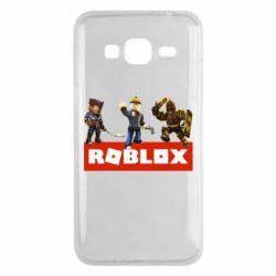 Чехол для Samsung J3 2016 Roblox Heroes