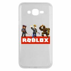 Чехол для Samsung J7 2015 Roblox Heroes