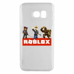 Чехол для Samsung S6 EDGE Roblox Heroes