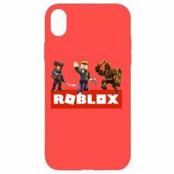 Чехол для iPhone XR Roblox Heroes