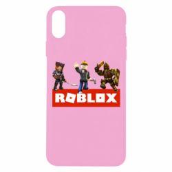 Чехол для iPhone Xs Max Roblox Heroes
