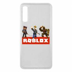 Чехол для Samsung A7 2018 Roblox Heroes