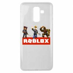 Чехол для Samsung J8 2018 Roblox Heroes