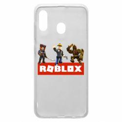 Чехол для Samsung A20 Roblox Heroes