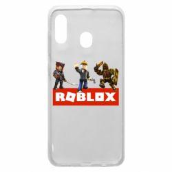 Чехол для Samsung A30 Roblox Heroes