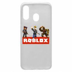 Чехол для Samsung A40 Roblox Heroes