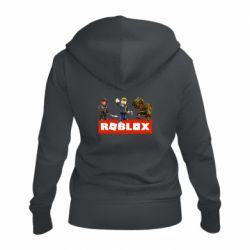 Женская толстовка на молнии Roblox Heroes