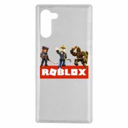Чехол для Samsung Note 10 Roblox Heroes