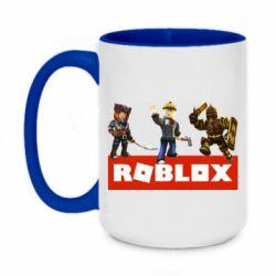 Кружка двухцветная 420ml Roblox Heroes