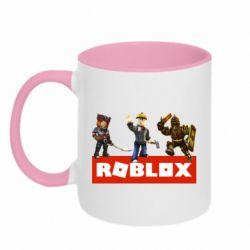 Кружка двухцветная 320ml Roblox Heroes