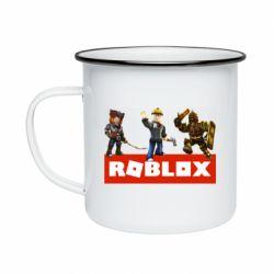 Кружка эмалированная Roblox Heroes