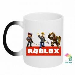 Кружка-хамелеон Roblox Heroes