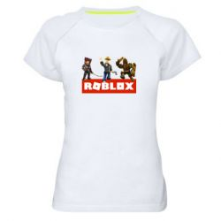 Женская спортивная футболка Roblox Heroes