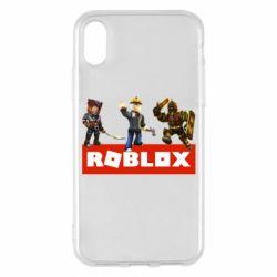 Чехол для iPhone X/Xs Roblox Heroes