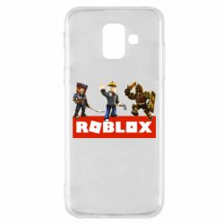 Чехол для Samsung A6 2018 Roblox Heroes