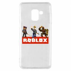 Чехол для Samsung A8 2018 Roblox Heroes