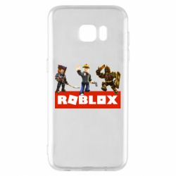Чехол для Samsung S7 EDGE Roblox Heroes