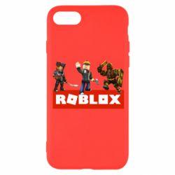 Чехол для iPhone 8 Roblox Heroes