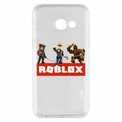 Чехол для Samsung A3 2017 Roblox Heroes