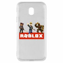Чехол для Samsung J3 2017 Roblox Heroes