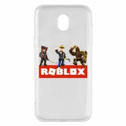 Чехол для Samsung J5 2017 Roblox Heroes