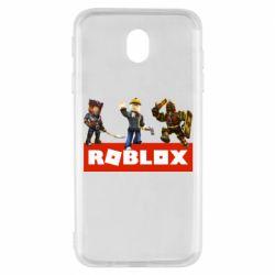 Чехол для Samsung J7 2017 Roblox Heroes