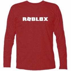 Футболка с длинным рукавом Roblox inscription