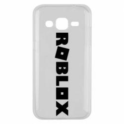 Чехол для Samsung J2 2015 Roblox inscription