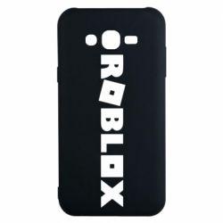 Чехол для Samsung J7 2015 Roblox inscription