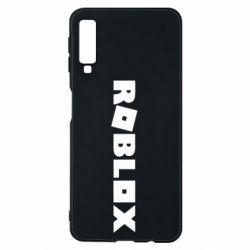 Чехол для Samsung A7 2018 Roblox inscription