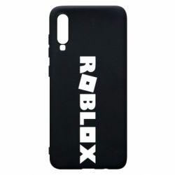Чехол для Samsung A70 Roblox inscription