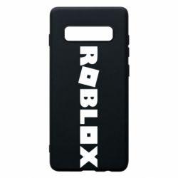 Чехол для Samsung S10+ Roblox inscription