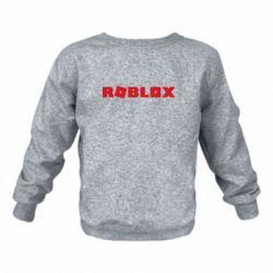 Детский реглан (свитшот) Roblox inscription