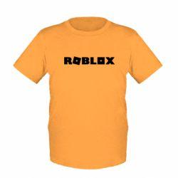 Детская футболка Roblox inscription