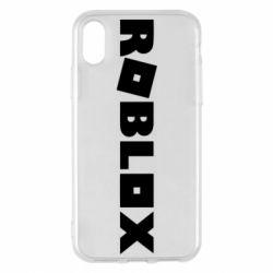 Чехол для iPhone X/Xs Roblox inscription