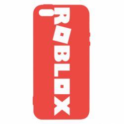 Чехол для iPhone5/5S/SE Roblox inscription