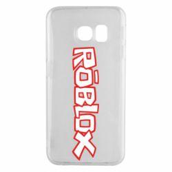 Чехол для Samsung S6 EDGE Roblox logo