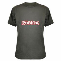 Камуфляжная футболка Roblox logo