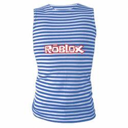 Майка-тельняшка Roblox logo