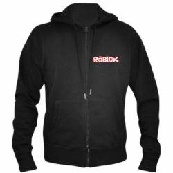 Мужская толстовка на молнии Roblox logo