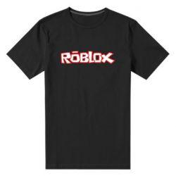 Мужская стрейчевая футболка Roblox logo