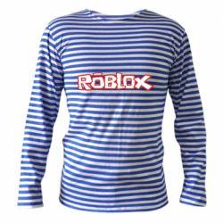 Тельняшка с длинным рукавом Roblox logo