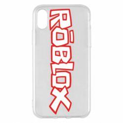 Чехол для iPhone X/Xs Roblox logo