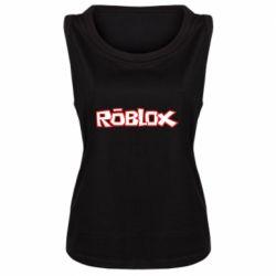 Женская майка Roblox logo
