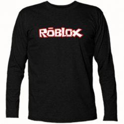 Футболка с длинным рукавом Roblox logo