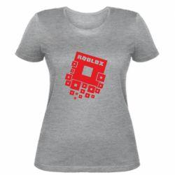 Женская футболка Roblox logos
