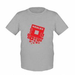 Детская футболка Roblox logos