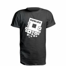 Удлиненная футболка Roblox logos